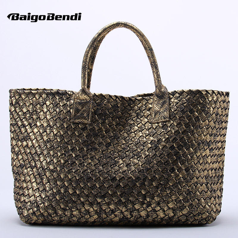 10 Colors Brand Shinning Woven Leather Handbag Cross Stitch Hobo Womens Knitting Serpentine Bag Large Casual Tote10 Colors Brand Shinning Woven Leather Handbag Cross Stitch Hobo Womens Knitting Serpentine Bag Large Casual Tote