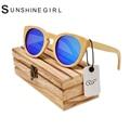 Hombre Bolsa Feminina Fabricante de gafas de Sol Redondas gafas de Sol de Madera De Bambú De Bambú gafas de Sol Fabricante