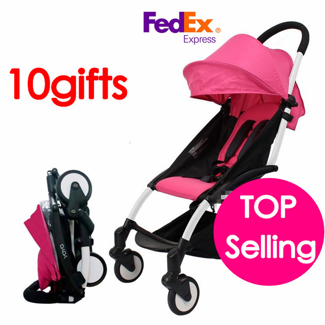 100% ORIGINAL Travel Baby Stroller Trolley Poussette Pushchair Folding baby pram Bebek Arabas Buggy naissance stroller convenient folding baby buggy 6 colors for your choice net weight 9 5kg baby buggy fast delivery by ems infant stoller pushchair