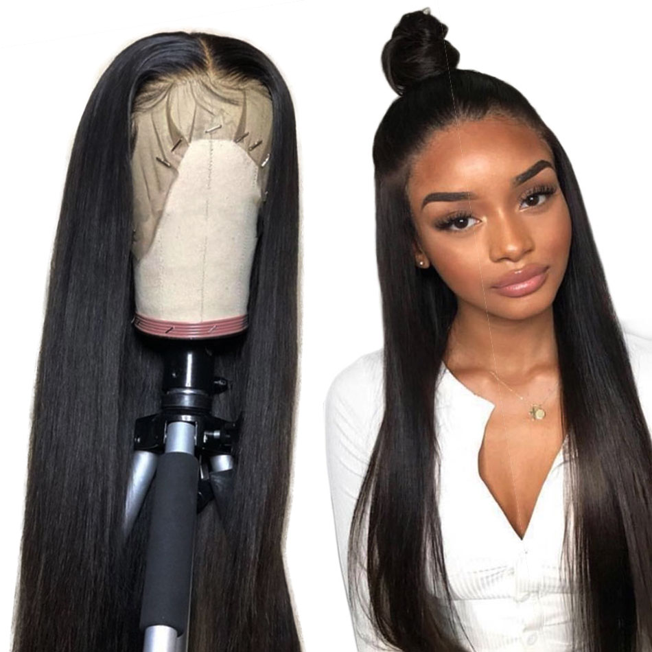 Alibele Straight Lace Front Human Hair Wigs 10 24 inch Short Long 13x4 Lace Frontal Wig