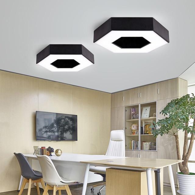 US $18.61 46% OFF|Led deckenleuchten hexagonal schlafzimmer wohnzimmer  balkon büro studie meetting esszimmer deckenleuchte led beleuchtung indoor  in ...