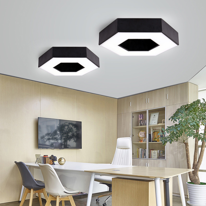 Led plafonniers hexagonaux chambre salon balcon bureau - Plafonnier salle a manger ...