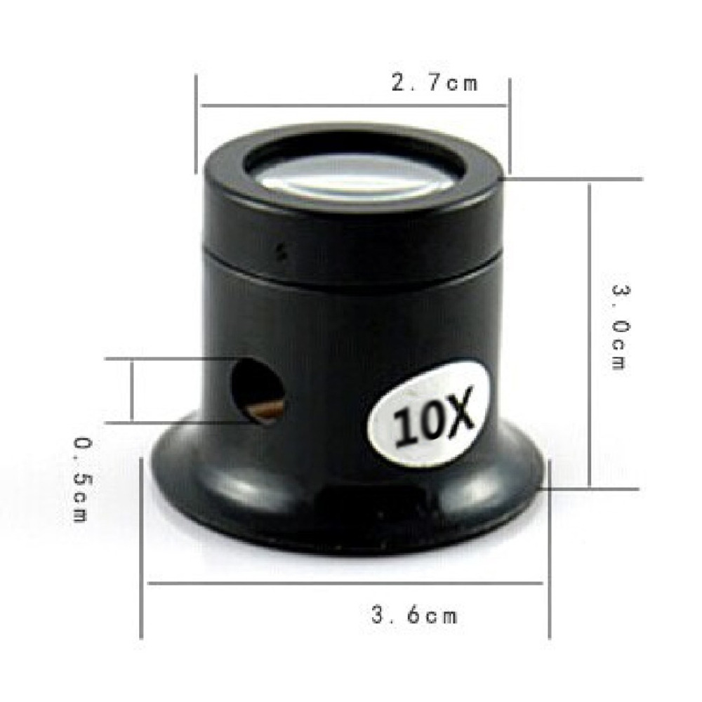 Magnifying Glass 10X Monocular Loupe Lens Jeweler Watch Magnifier Tool Eye Magnifier Len Repair Kit Tool Portable