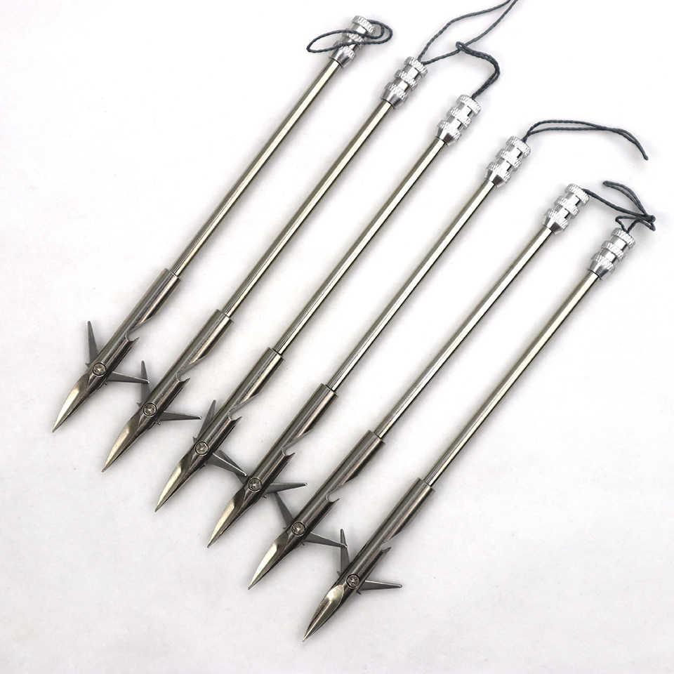 6 pièces, à tête large en acier inoxydable, 9 styles pour pêche à la fronde, tir pour la chasse, 2019, offre spéciale