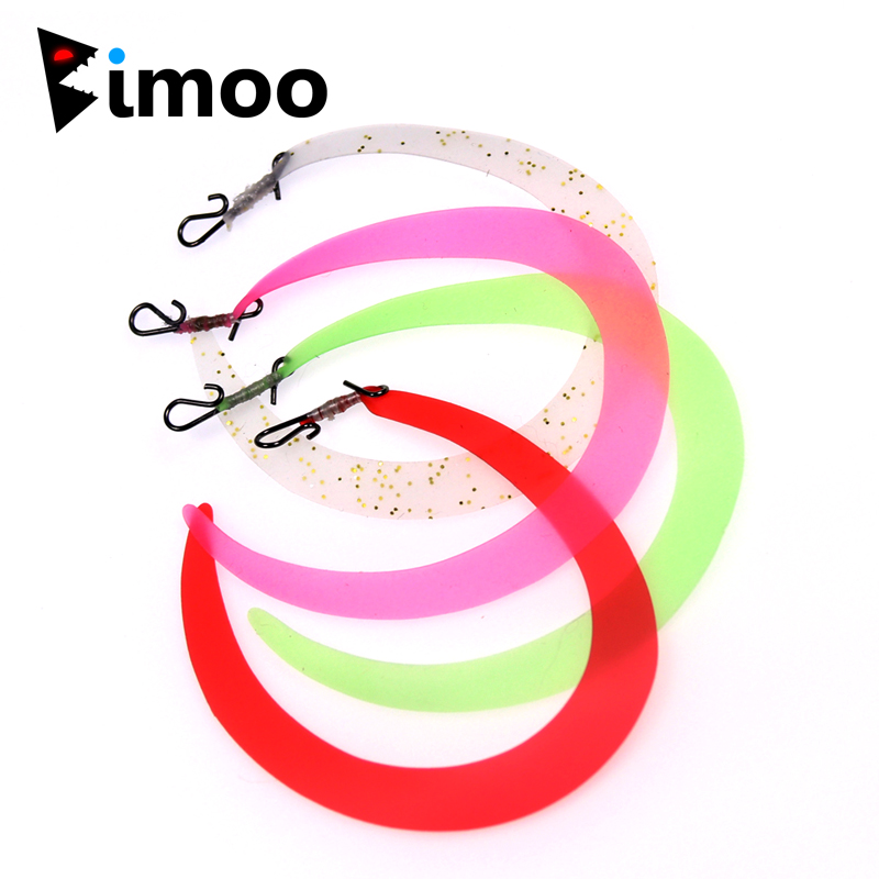 Bimoo 10PCS Size M Pretied Wiggle Tail With Quick Snap For Fishing Lures Fishing Flies Streamers Trout Bass Pike Saltwater Fish