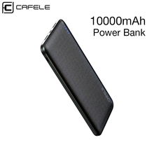 цены на CAFELE Power Bank For iPhone X XS Samsung S10 S9 Plus Mobile Phone Powerbank Dual USB Portable External Battery Charger 10000mAh  в интернет-магазинах