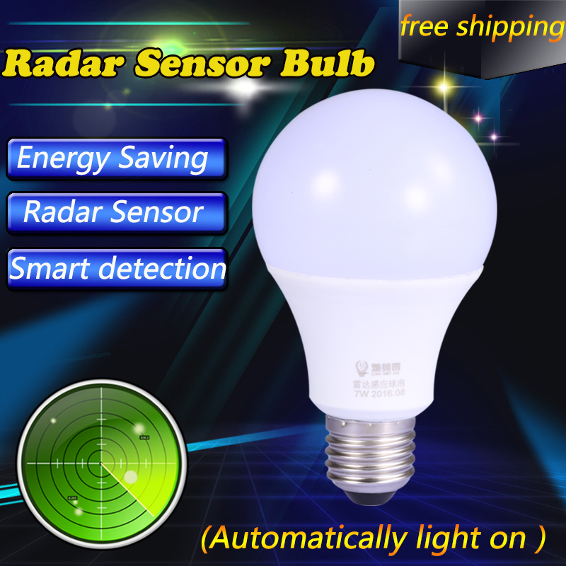 e27 led light bulbs smart radar motion sensor led bulb ampoule led e27 lampada led 220v auto. Black Bedroom Furniture Sets. Home Design Ideas