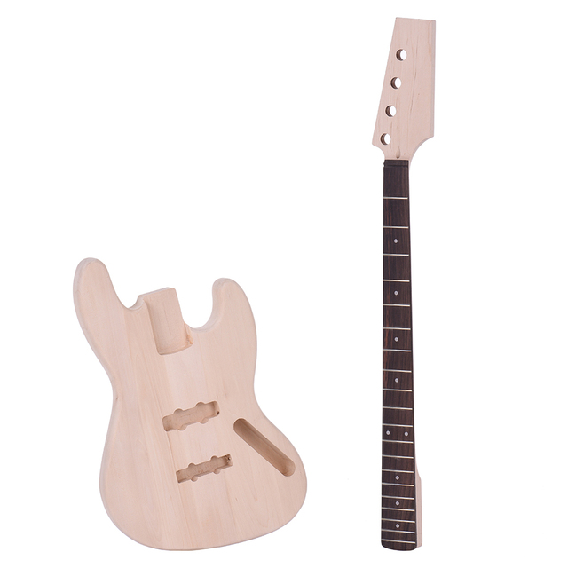 Bass style 4 string electric bass diy kit solid basswood body maple bass style 4 string electric bass diy kit solid basswood body maple neck rosewood fingerboard solutioingenieria Image collections