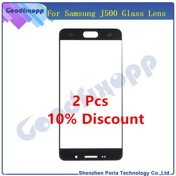 Front Panel Glass For Samsung Galaxy J5 2015 J500 J500F Front Out LCD Glass Lens Cover For Samsung J500 J500F Replacement Parts image