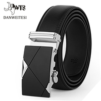 2016 Brand Designer Belts Men High Quality Automatic Buckle Belt Cowhide Young Fashion Leather Buckle Men