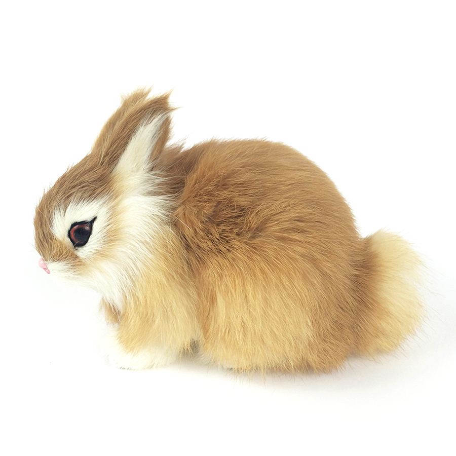 Cute Bunny Soft Plush Toys Rabbit Simulation Animal Kids ...