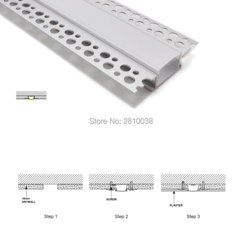 15 X2 M Sets/Lot New arrival led aluminum profile channel and super wide T shape led extrusion for recessed wall lights ...