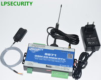 LPSECURITY GSM With 1 Temperature Humidity Sensor Wireless GSM PLC 3G Gsm Alarm Controller S271 SMS
