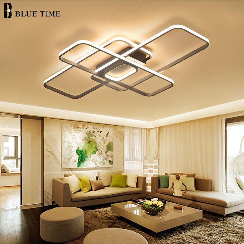 Light Filled Contemporary Living Rooms: Rings Modern Led Chandelier For Living Room Bedroom Dining