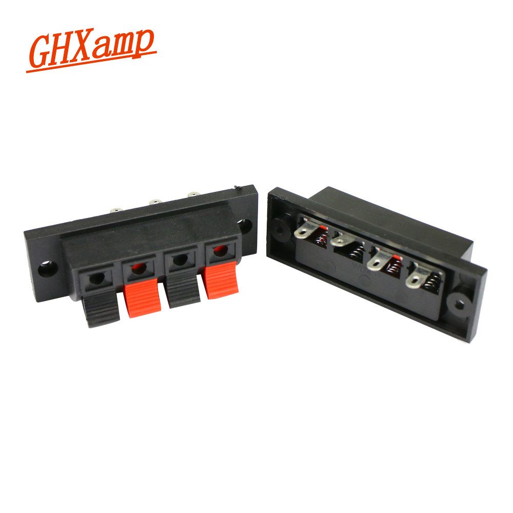GHXAMP Amplifier Speaker-Terminal-Strip Block Thick Spring Push-Release-Connector Abs-Plastic title=