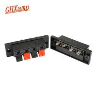 GHXAMP 4 sposób wzmacniacz głośnik listwa zaciskowa bloku wiosna Push Release złącze wysokiej jakości gruby ABS z tworzywa sztucznego 2 sztuk w Akcesoria do głośników od Elektronika użytkowa na