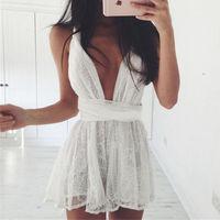 2017 Summer Beach Dress White Lace Dress Strand rysunek Amazon procy kantar sukienka paski poprzeczne Maio Praia Feminino Vestido Playa