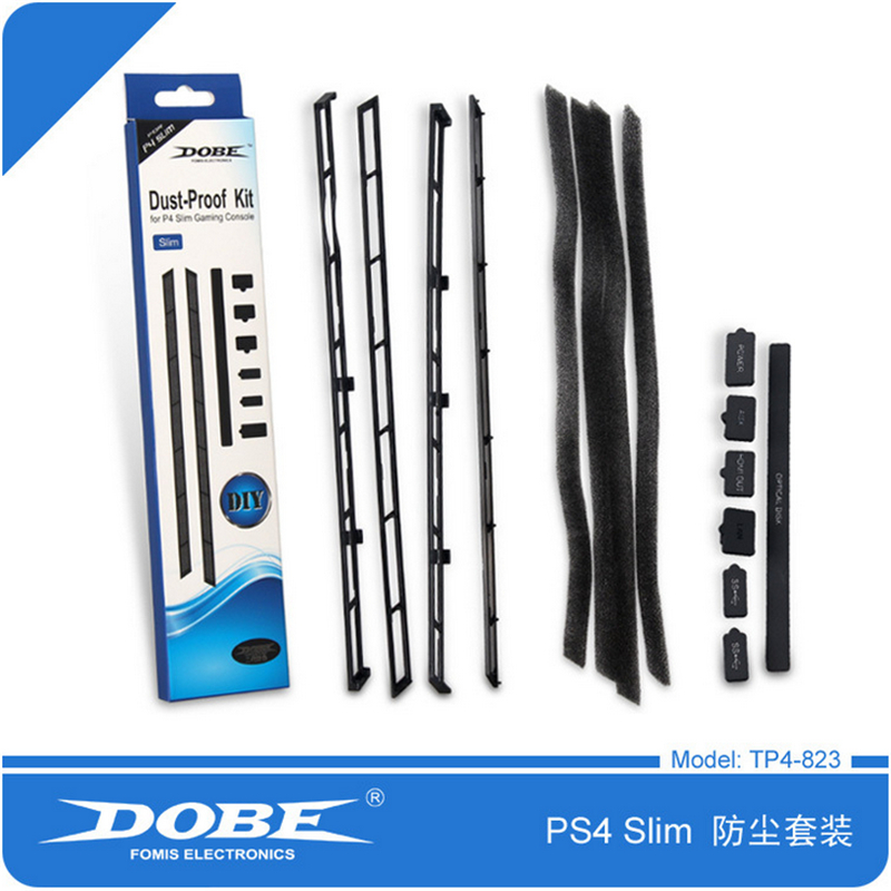 PS4 Slim DIY Dust Proof Prevent Cover Case Stopper Pack Dustproof Kit For SONY PlayStation 4 Slim PS4 Slim Gaming Console