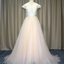 Waulizane Fabulous A-Line Wedding Dresses Sweep Train