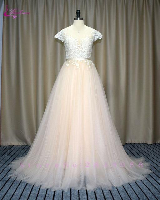 Waulizane Fabulous Appliques Tulle A Line Wedding Dresses Elegant ...
