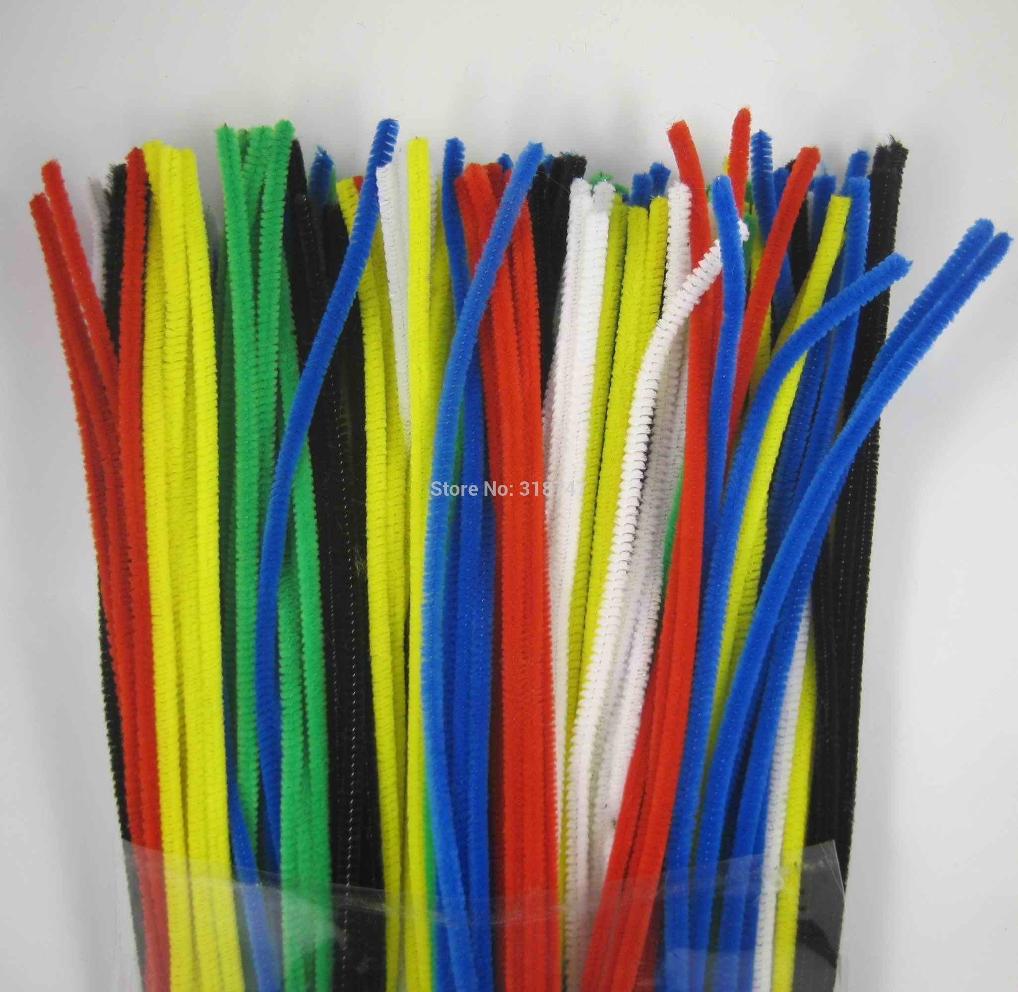 Pipe cleaners arts and crafts - Lucia Craft 12 X 6mm 100pcs Pack Mix Color Chenille Stems Diy Art Supplies