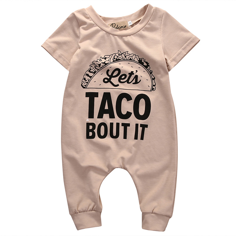 0-18M Newborn Infant Baby Boys Rompers Girl O-Neck Short Sleeve Romper Kids Baby Boy Clothing Letter Jumpsuit Clothes Outfits