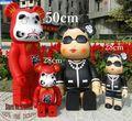 28 cm/50 cm Envío libre de Gran Tamaño Medicom Toy Bearbrick Oso Rojo Y Dama de La Moda de Regalo de Lujo Para amigos