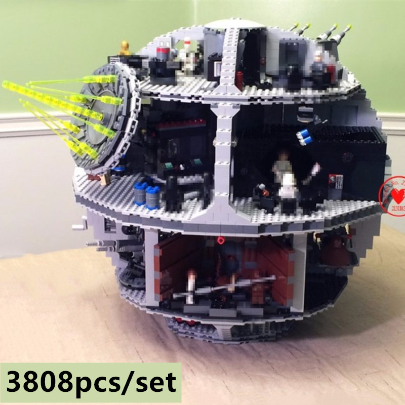 NOVA 3803 Pcs figuras star wars Death Star fit legoings modelo Building block Bricks fit 10188 Crianças Brinquedos Educativos meninos presentes