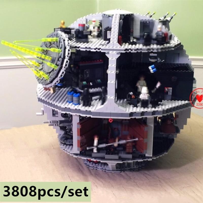 Nuevo 3803 piezas de la estrella de la muerte con las figuras de Star wars modelo bloque de construcción de ladrillos fit 10188 niños juguetes educativos niños regalos