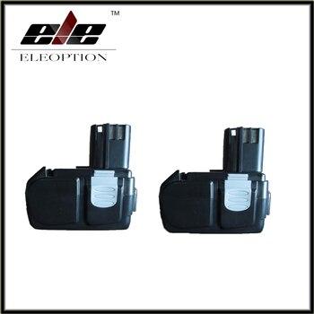 Eleoption 2 pcs Power Tool Battery For Hitachi EBM1830 BCL1815 DH18DL DS18DL DV18DL 18V 3000mAh Li-ion Rechargeable Batteries