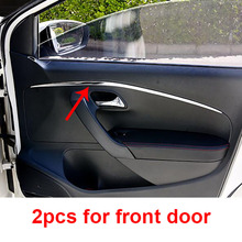 2pcs for polo 2011- Front inner door panel Decorative stripes Stainless steel Decorative strip