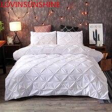 LOVINSUNSHINE, роскошный комплект постельного белья, одеяла, комплекты постельного белья, белый King, пододеяльник, набор, домашний тексиловый, без простыни, A01