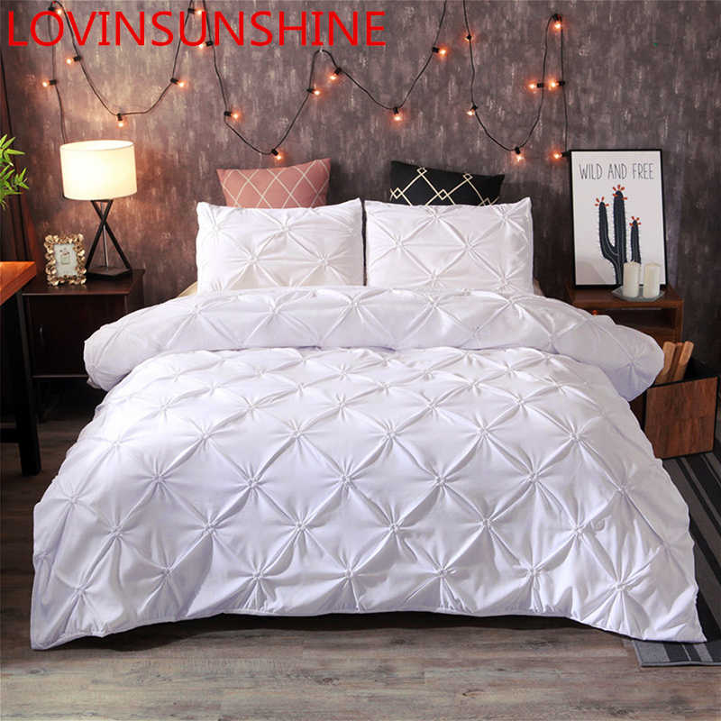 LOVINSUNSHINE Luxury Bed Set Comforter Bedding Sets White King Duvet Cover Set Home Texile No Sheet A01#