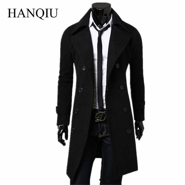 6b3c4adf79e Mens Trench Coat 2019 New Fashion Designer Men Long Coat Autumn Winter  Double-breasted Windproof Slim Trench Coat Men Plus Size
