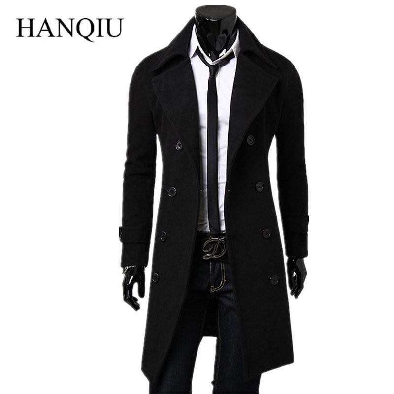 Mens Trench   Coat   2019 New Fashion Designer Men Long   Coat   Autumn Winter Double-breasted Windproof Slim Trench   Coat   Men Plus Size