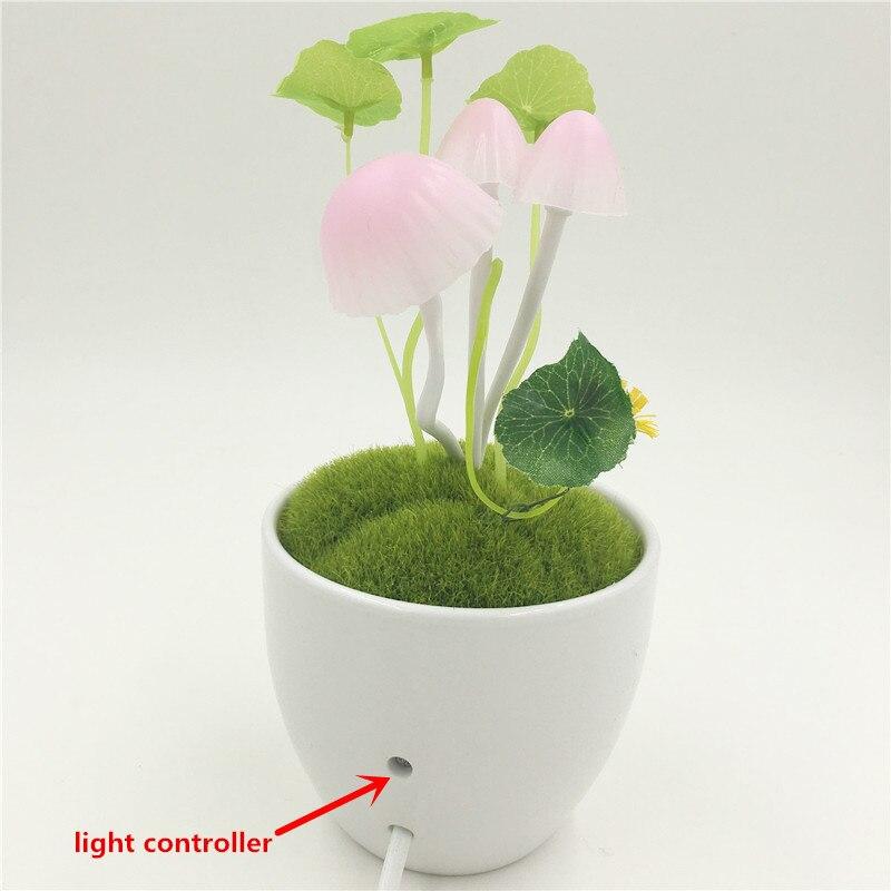 Nowość Indukcyjna lampa nocna RGB Grzyb sen Grzyb Lampa LED 3 diody - Lampki nocne - Zdjęcie 5