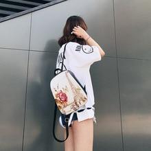 Осень 2017 г. Новинка зимы Лидер продаж модные женские туфли женские повседневные школьников молния простой мягкий печати сумки рюкзаки