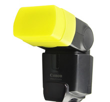 Yellow FC-26B New Flash Diffuser Cover  For CANON 430EX/430EXII,Yongnuo YN-500EX For HVL-F43M Speedlite Speedlight