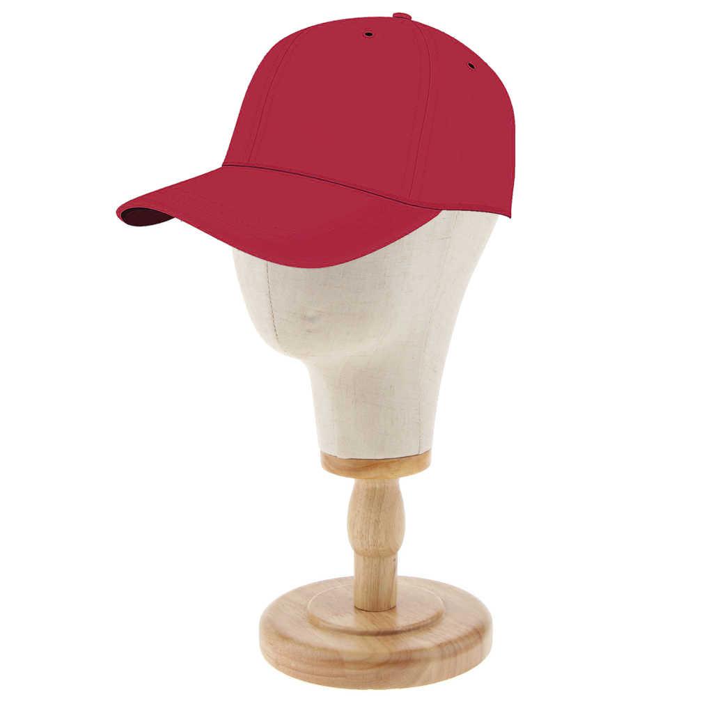 21 cali korek płótno blok manekin głowa manekina peruka dokonywanie kapelusz wyświetlacz stylizacja głowy z drewniany stojak beżowy