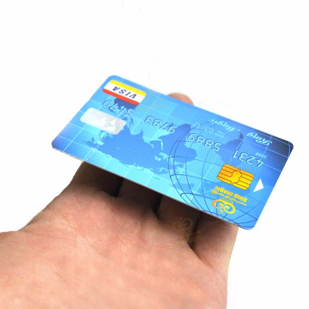 2 pces cartão de crédito + 1 pces pvc barra transparente flutuante cartão de crédito truques mágicos truque mágico acessório close-up adereços mágicos