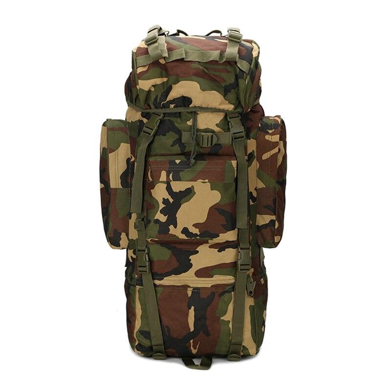 Sac à dos tactique militaire de grande capacité 70L avec couverture de pluie sac à dos d'armée utilitaire randonnée en plein air escalade Treking sac de Camping
