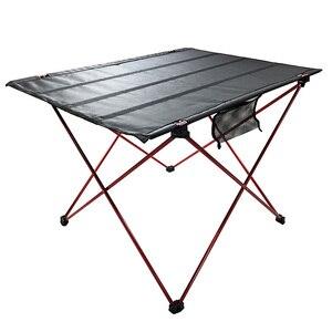 Image 3 - طاولة قابلة للطي طاولة تخييم في الهواء الطلق خفيفة الوزن المحمولة للتخييم ، الشاطئ ، الفناء الخلفي ، شواء.