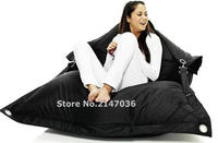 Black Outdoor Living Room Furniture Beanbags Chair Waterproof Multifunction Garden Bean Bag Adult Lazy Sofa Cover
