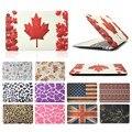 Для Macbook Air 13 дюймов Окрашенные мода pattern Жесткий Прорезиненное Матовая поверхность Чехол Обложка Мода Ноутбук сумка Для Macbook Air 13''