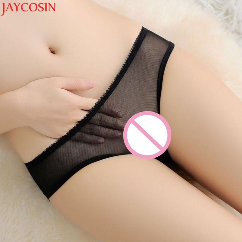 Buy Jaycosin crotchless panties g-string Women  Briefs Lace Panties Thongs Lingerie Underwear sexy pantsuits Jan26
