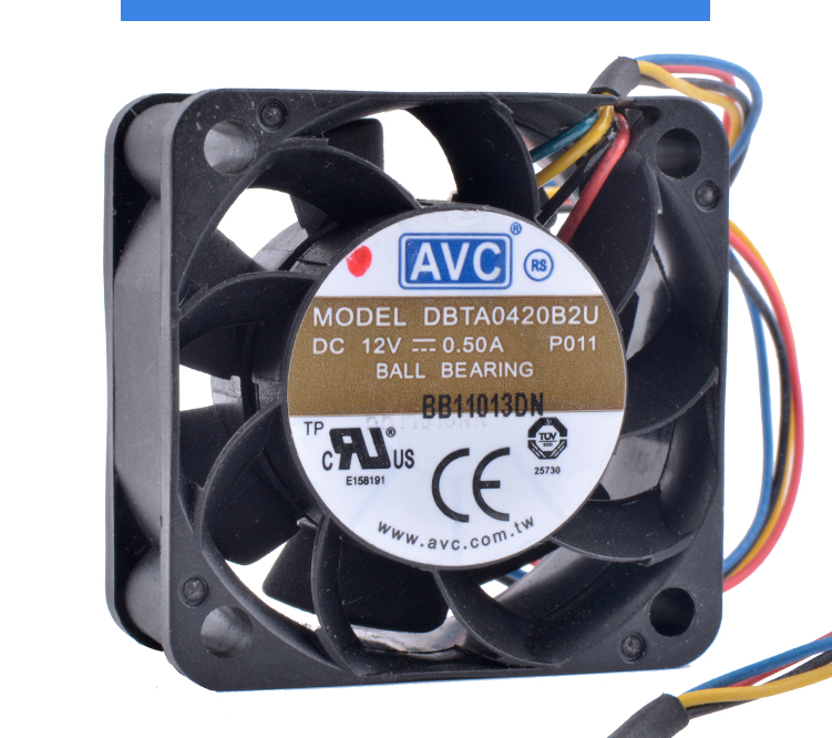 COOLING REVOLUTION DBTA0420B2U 4cm 4020 40x40x20mm 12V 0.50ADouble ball bearing large air volume power supply DIY cooling fan