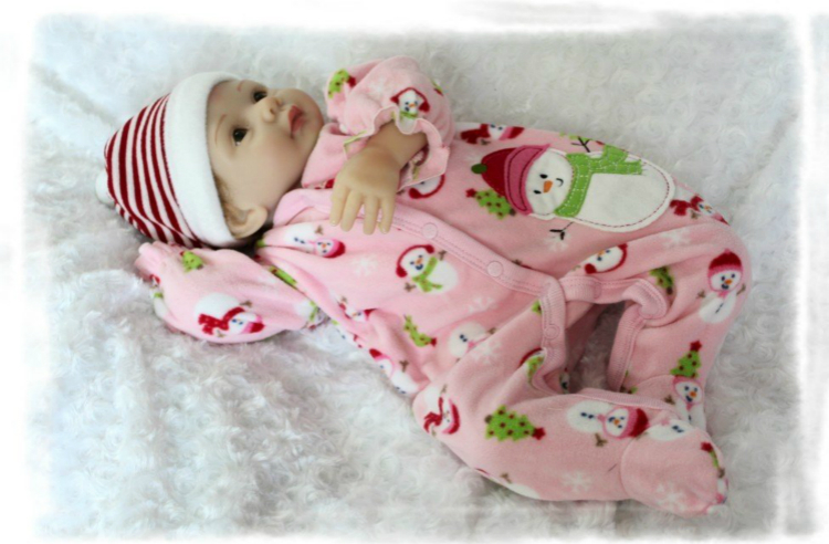 55cm/22inches Baby Doll Safe Soft Silicone Living Doll Cloth Body Lively Kids Gift Rooted Hair55cm/22inches Baby Doll Safe Soft Silicone Living Doll Cloth Body Lively Kids Gift Rooted Hair
