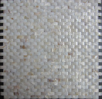 11pcs Bridge Shell Mosaic Tile Backsplash ,Decorative river shell Mother Of Pearl Mosaic Tile Kitchen Bathroom Floor