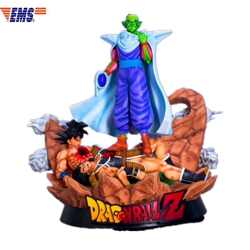 Anime Dragon Ball Z Villain Piccolo Defeat Goku Vegeta Resin Scenes Statue Action Figure Model Toy X304