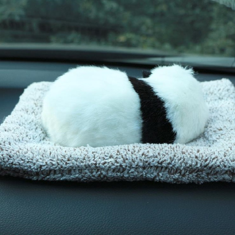 New Style Lovely Handsome Panda Plush Toys Activated Carbon In Addition To Formaldehyde Car Accessories